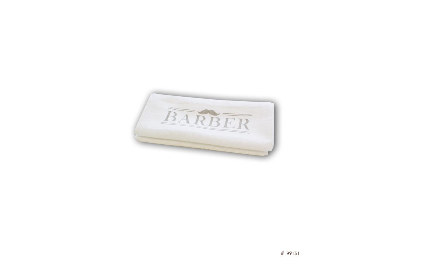 Trend Design Barber Towel Rasierhandtuch weiß
