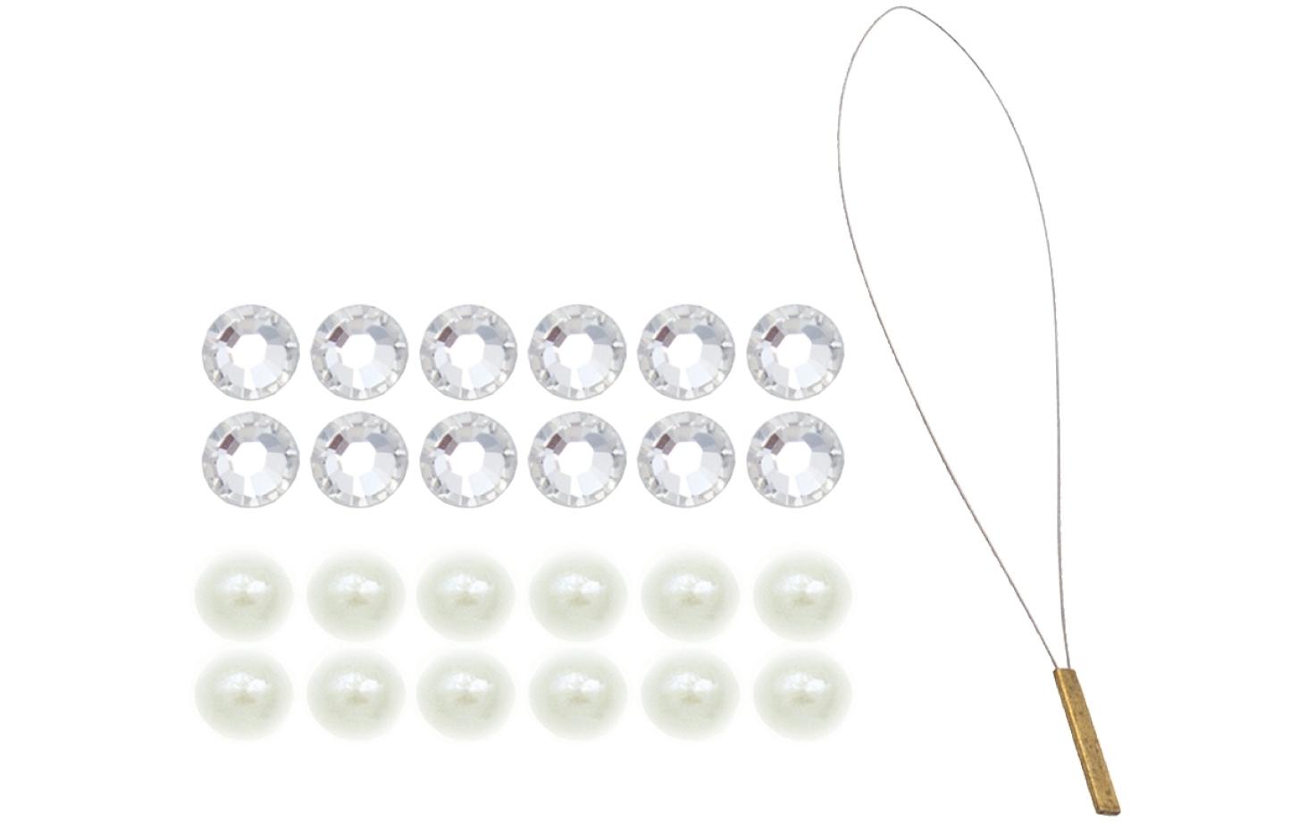 Hair- Piercing mit 12 Perlen