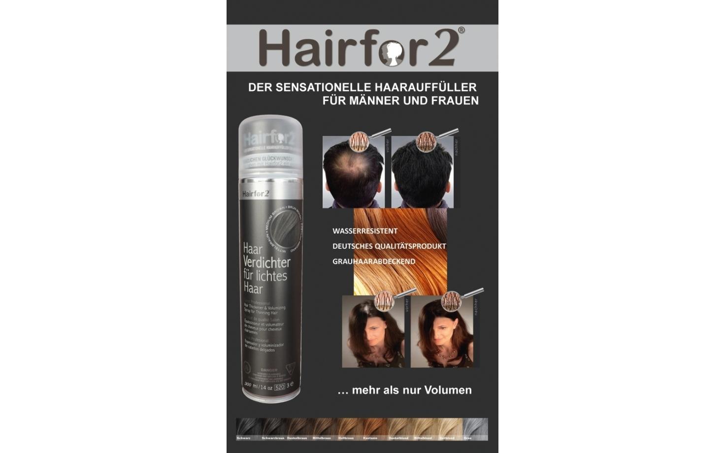 Hairfor2 Haarverdichtung Poster
