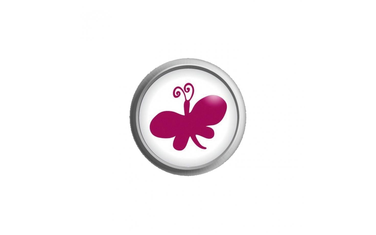 Ohrstecker Easypiercy Button Schmetterling, 5,50 mm 1 Paar