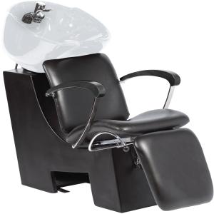 Comair Waschplatz Wien Becken weiß, Stuhl schwarz