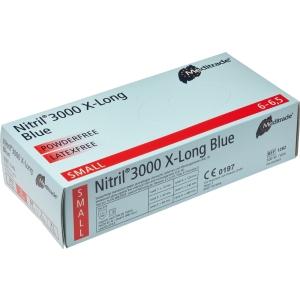 Meditrade Nitril-Handschuhe lang blau
