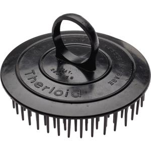 Kopfmassagebürste schwarz mit Ring
