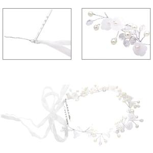 Haarkamm mit großen Perlen und großen Glaskugeln