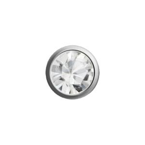Ohrstecker Easypiercy Mini 2,95 mm weiß April Brilliant 1 Paar