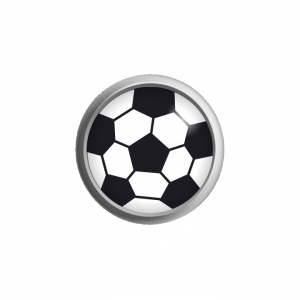 Ohrstecker Easypiercy Button Fußball, 5,50 mm 1 Paar