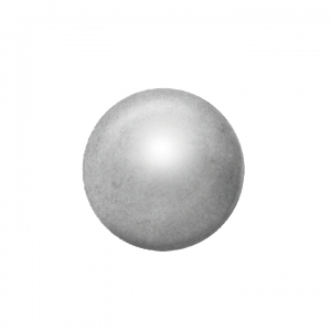 Ohrstecker Easypiercy Basic 3,95 mm weiß/Kugel 1 Paar
