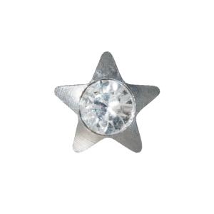Ohrstecker Easypiercy Basic 3,95 mm weiß Stern mit Brilliant 1 Paar