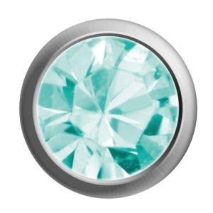 Ohrstecker weiß/Basic/Aqua.Kristall 1 Paar