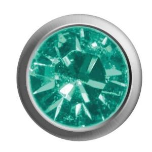Ohrstecker weiß/Basic/Türkis Kristall 1 Paar