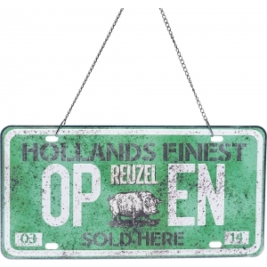 Reuzel Open/Close Schild