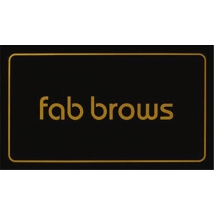 Fab Brows Window Sticker