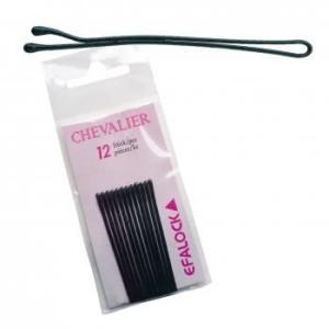 Chevalier Haarklammer 7 cm matt 12 Stück